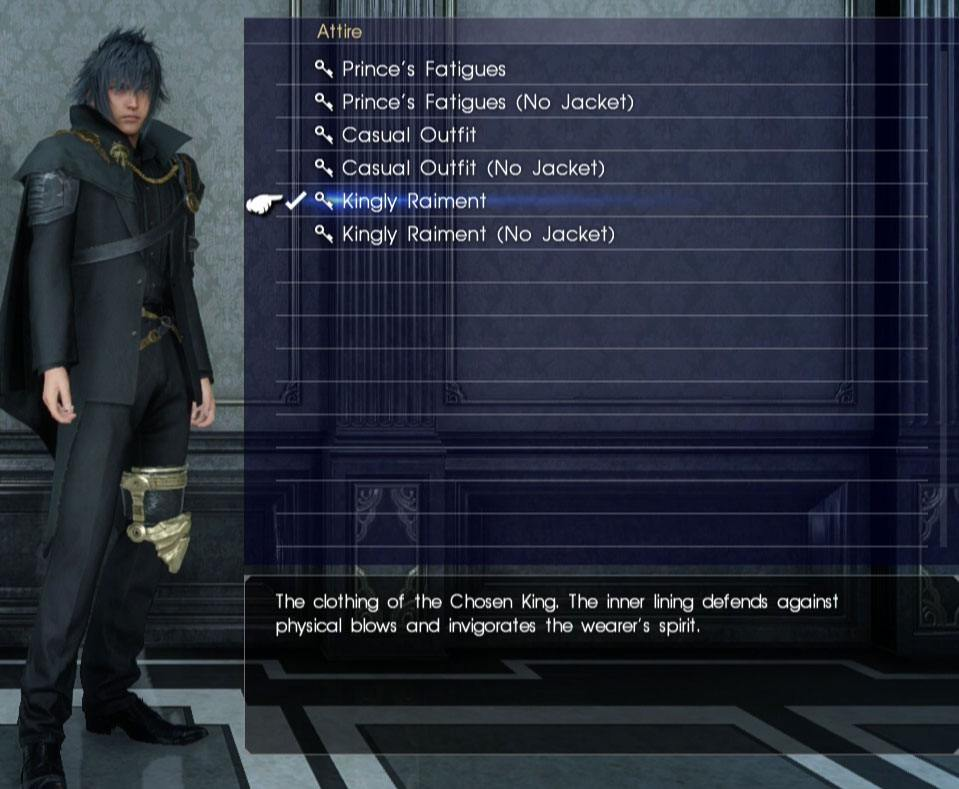 Final Fantasy XV All Outfits
