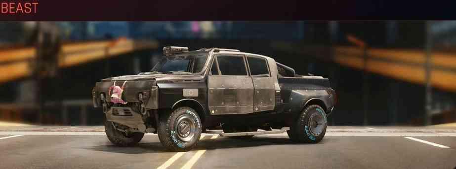 Cyberpunk 2077 Vehicle Guide cyberpunk 2077 beast