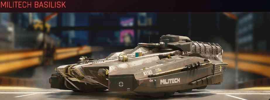 Cyberpunk 2077 Vehicle Guide cyberpunk 2077 militech basilisk