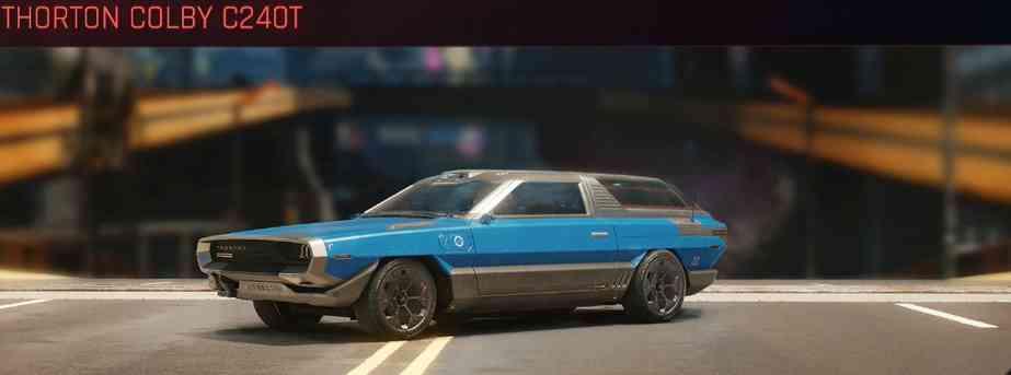 Cyberpunk 2077 Vehicle Guide cyberpunk 2077 thorton colby c240t