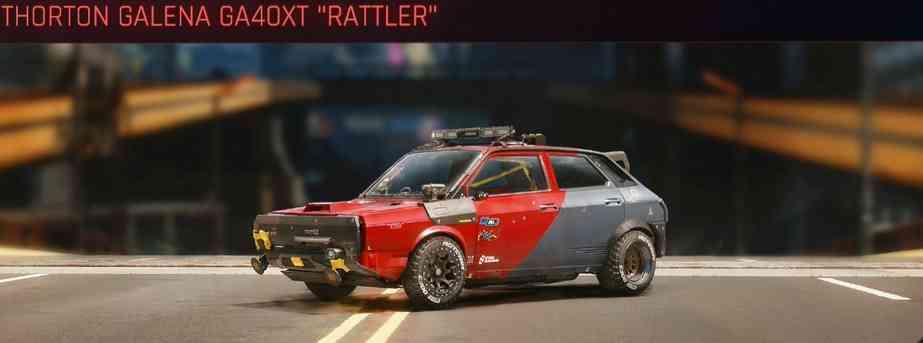 Cyberpunk 2077 Vehicle Guide cyberpunk 2077 thorton galena ga40xt rattler