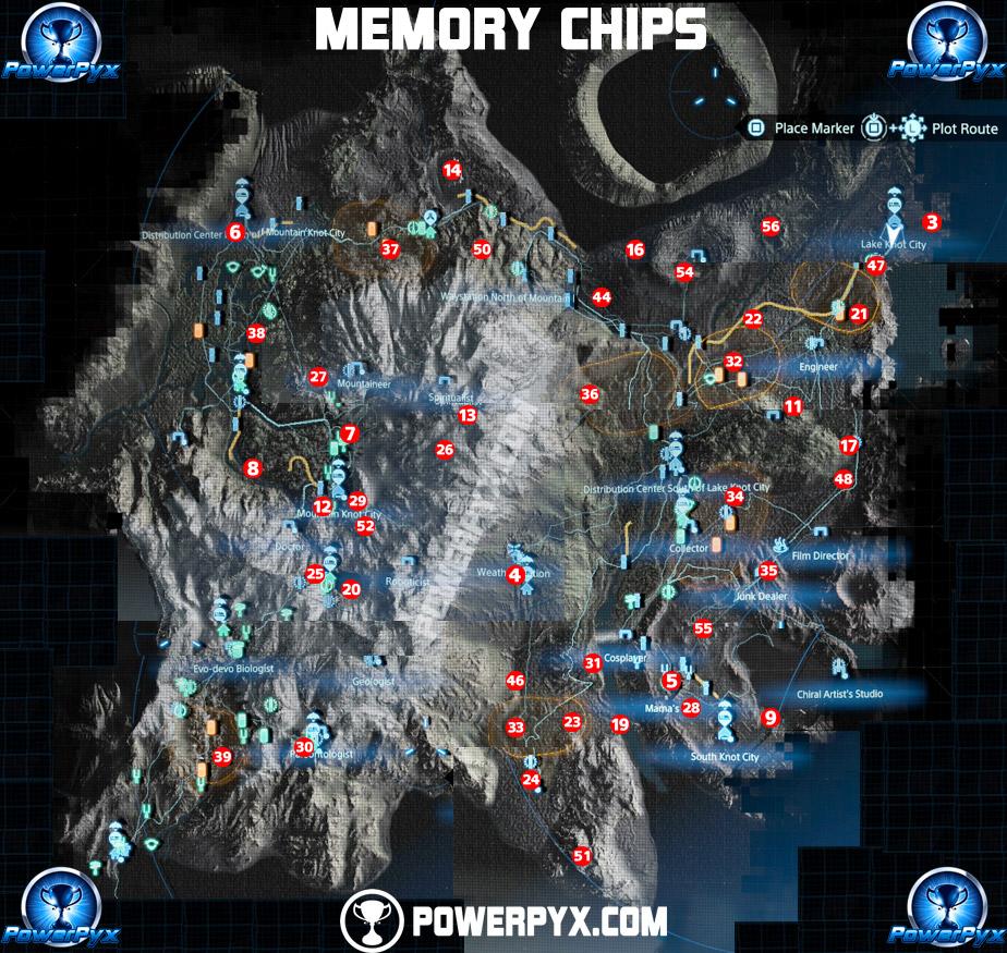 death stranding memory chips map 2 - Death Stranding: Guida completa ai chip di memoria