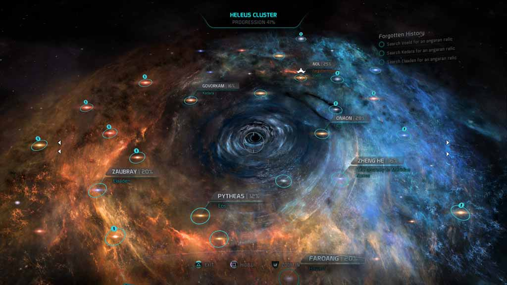 Image result for mass effect andromeda galaxy map