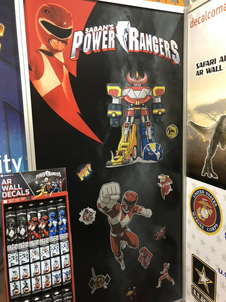 Power Rangers Ar Wall Decals Revealed Power Rangers Now