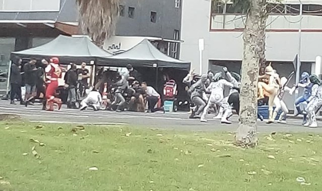 First Power Rangers Beast Morphers Teamup Filming Photos - Power