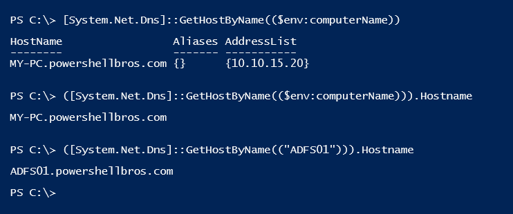 PowerShell Tip of the Week: Get FQDN - Powershellbros com