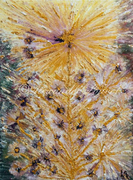 """Painting """"ANEMONIA"""" Oil 80X60"""