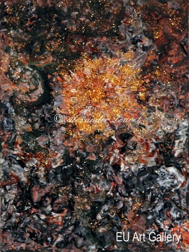 "Painting ""Tenga"" - 24X30 - Acrylic-Oil"