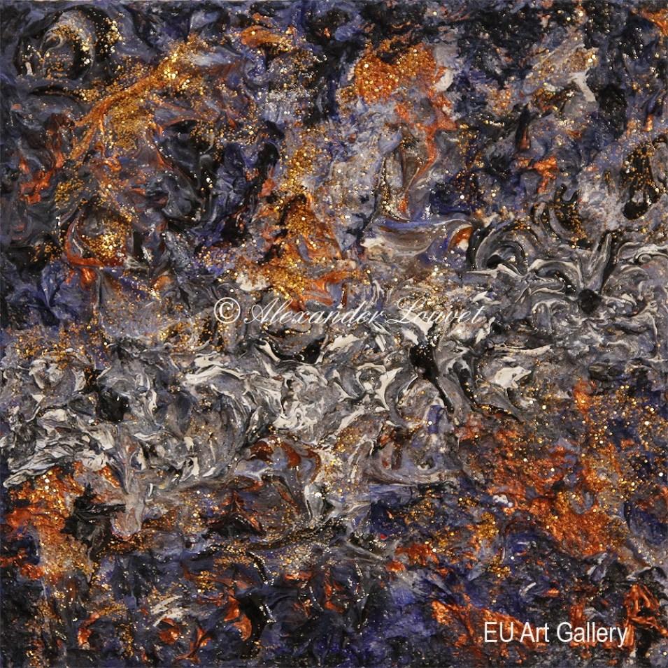 "Painting ""Sheena 1"" - 20X20 - Acrylic-Oil"