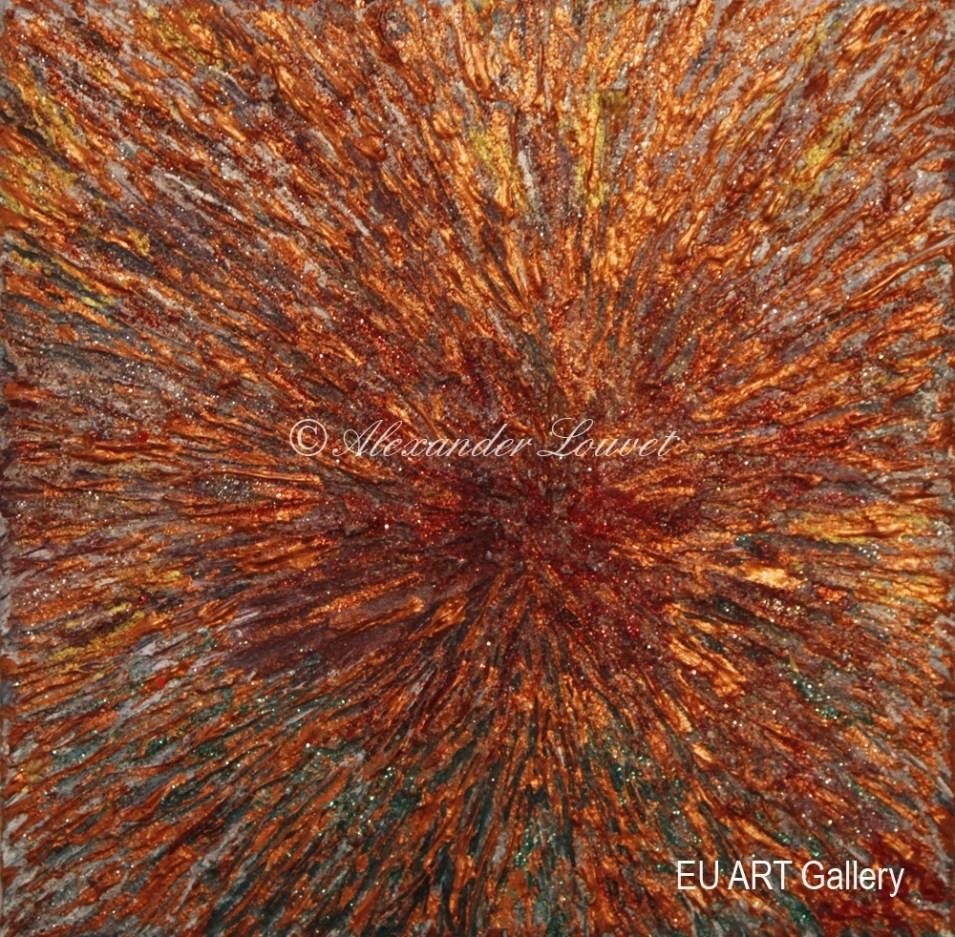 "Painting ""Messa"" - 20X20 - Acrylic-Oil"