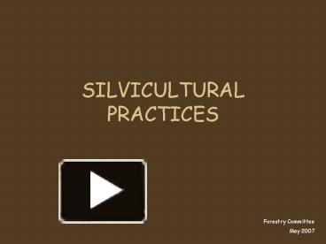 A silvicultural system is the process of tending, harvesting and regenerating a forest. Ppt Silvicultural Practices Powerpoint Presentation Free To View Id 47a4e4 M2i2n