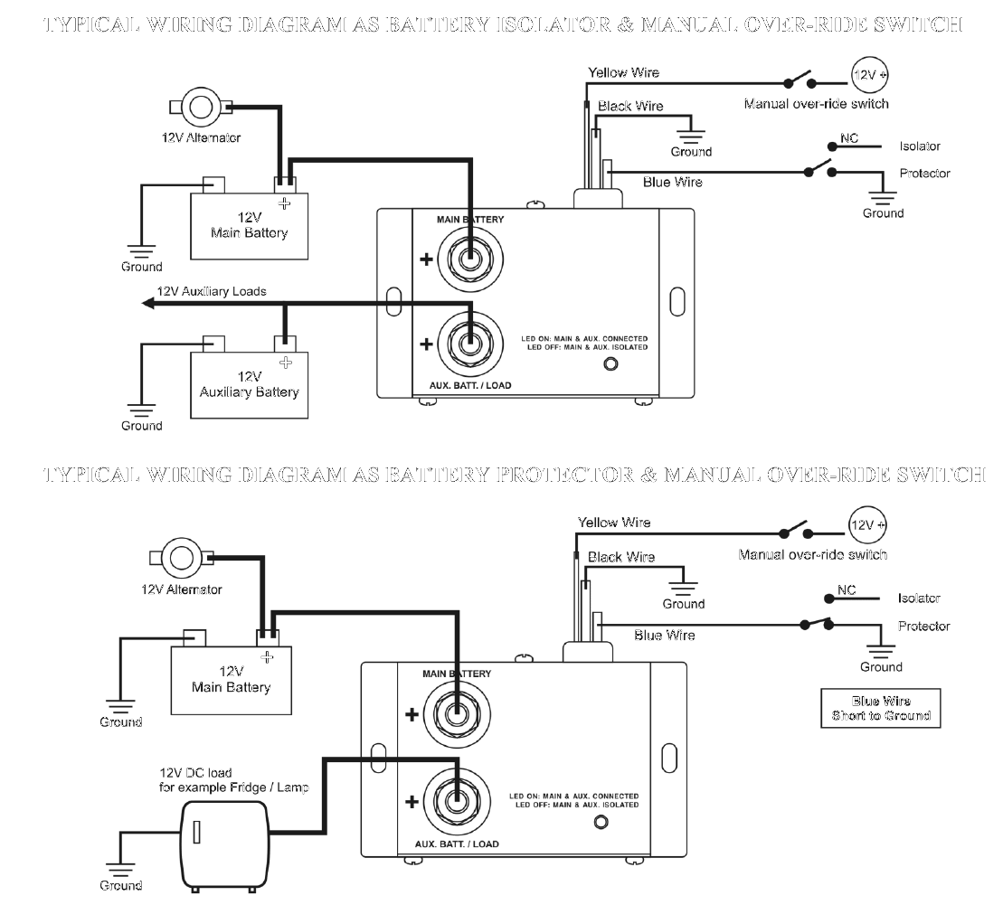 Simple Alternator Wiring Diagram Relay 24 Volt Battery