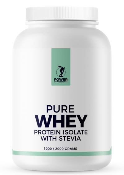 Stevia Whey Protein Isolate 1000g - Framboos - Stevia