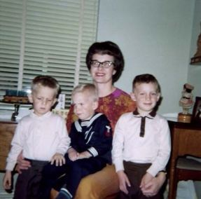1968 – Hoff Family (L-R) Bobbie, Charlie, Mary Hoff, Michael