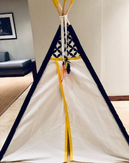 black and yellow teepees in South Africa