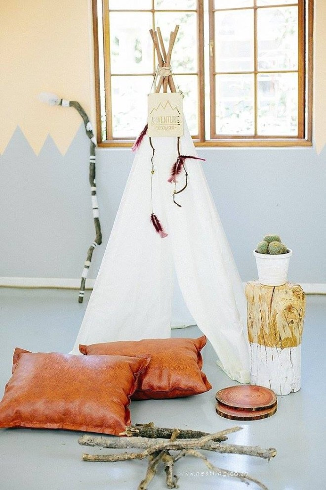 Teepees for children in South Africa