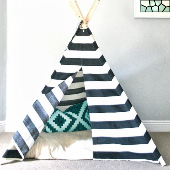 Black and white teepee