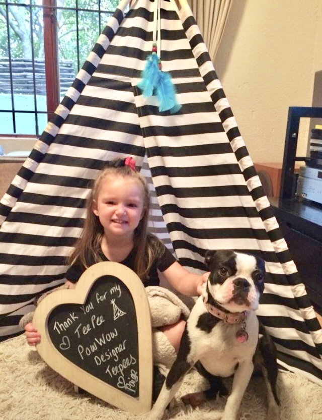 Child wins designer teepee