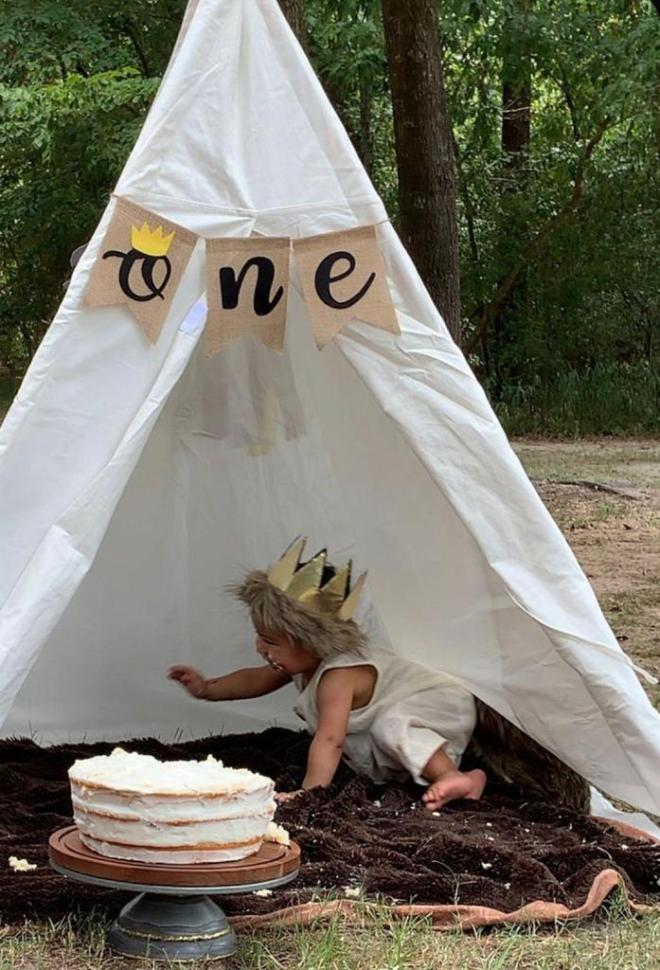 baby birthday parties in South Africa with teepees