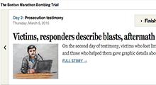 How The Boston Globe is covering the Boston Marathon bombing trial