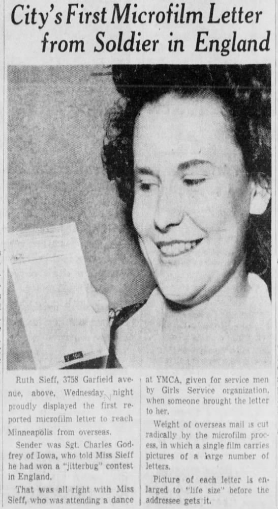 From The Minneapolis Morning Tribune, July 16, 1942.