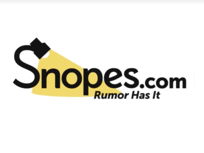 Snopes' logo. (Screenshot from Facebook)