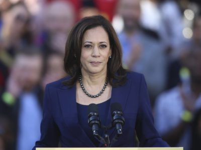 U.S. Senator Kamala Harris (D-Calif.) speaks to her supporters at the official launch rally for her campaign as a candidate for president in Oakland. (Photo: Christopher Victorio/imageSPACE/MediaPunch /IPX)