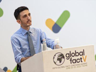 Alexios Mantzarlis at Global Fact V. (Photo/Giulio Riotta)