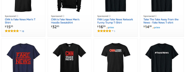 Bloomingdale's has discontinued a 'fake news' shirt. But there are still hundreds of them on Amazon.