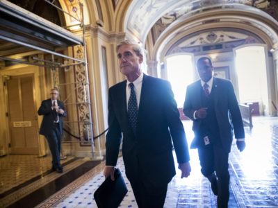 Special Counsel Robert Mueller departs the Capitol in 2017. (AP Photo/J. Scott Applewhite)