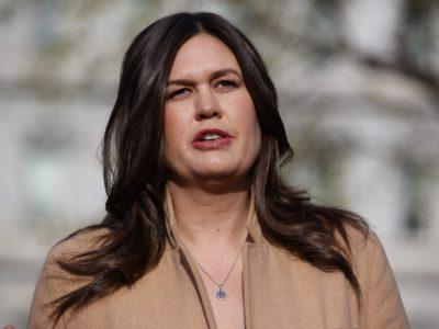 White House press secretary Sarah Sanders. (AP Photo/Evan Vucci, File)