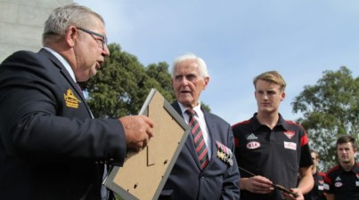 Young Bombers learn about the horrors of Pozieres