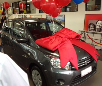 The Suzuki Celerio unveiled, kindly donated by Suzuki Australia
