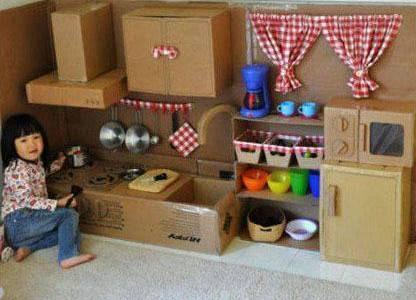 Kako iskoristiti kartonske kutije: Dječiji svijet