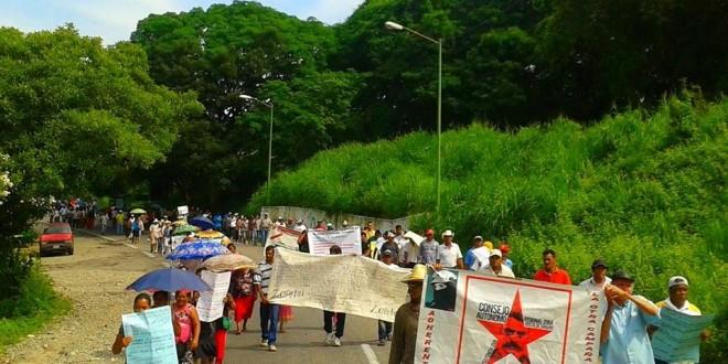 Desde la costa de Chiapas, exigen al Estado mexicano por la libertad de sus compañeros integrantes de la Red Nacional de Resistencia Civil