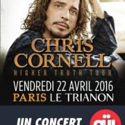 Affiche de Chris Cornell au Trianon