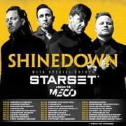 Affiche de Shinedown en tournée européenne