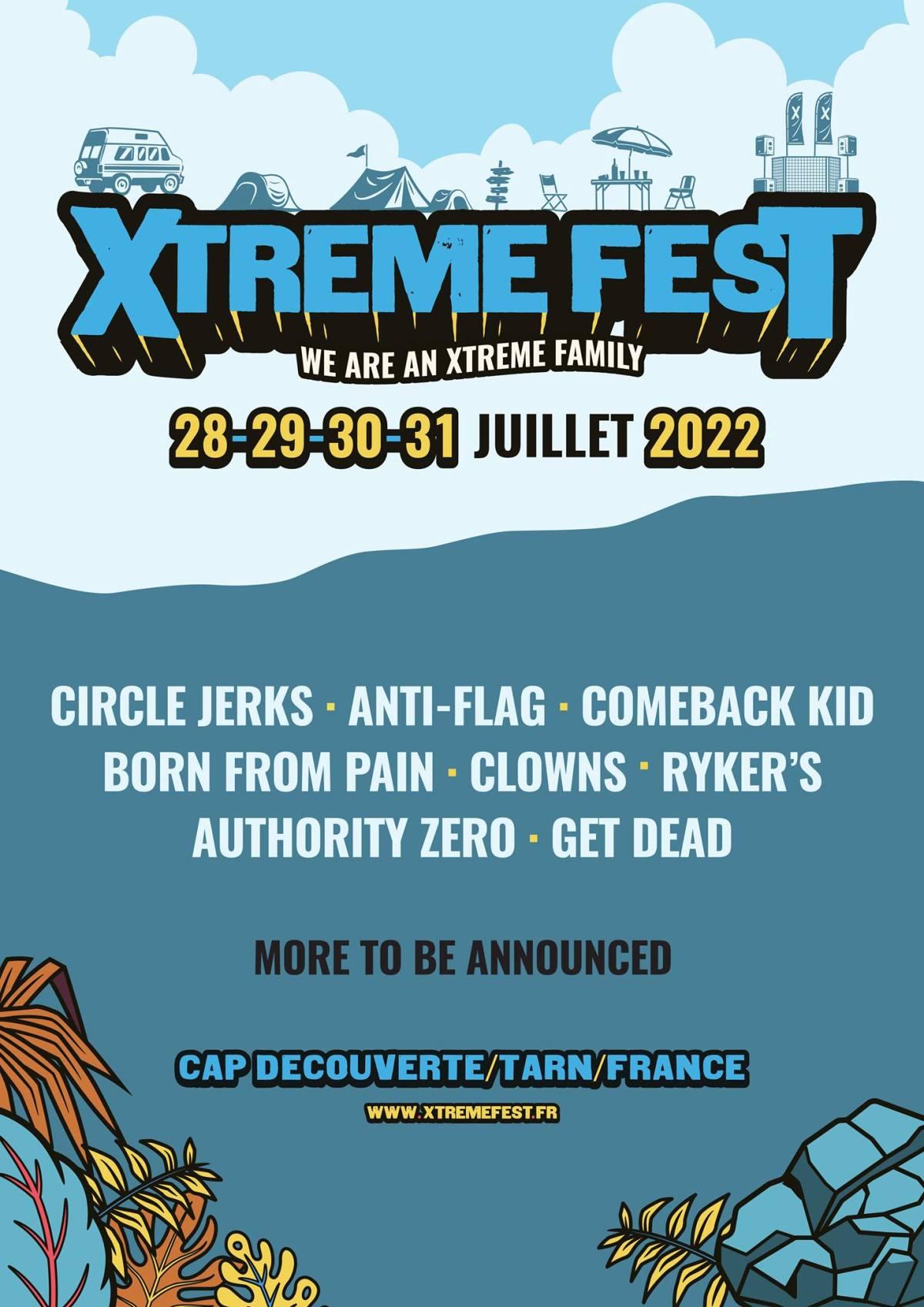 Xtreme Fest 2022 premiers noms
