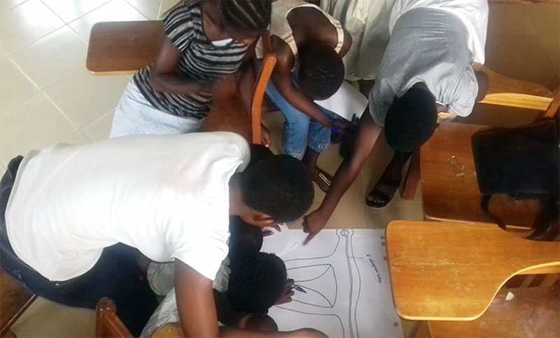 Group Work Session during the LPS training in Tamale