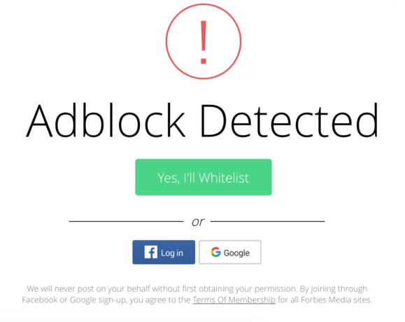 Adblockers detected