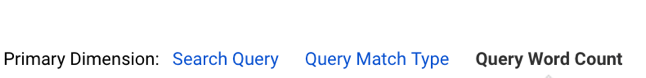 Google Analytics Query Word Count