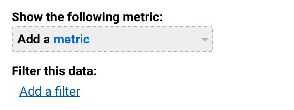 Segment metrics and filters