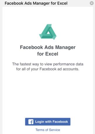 Log into Facebook account