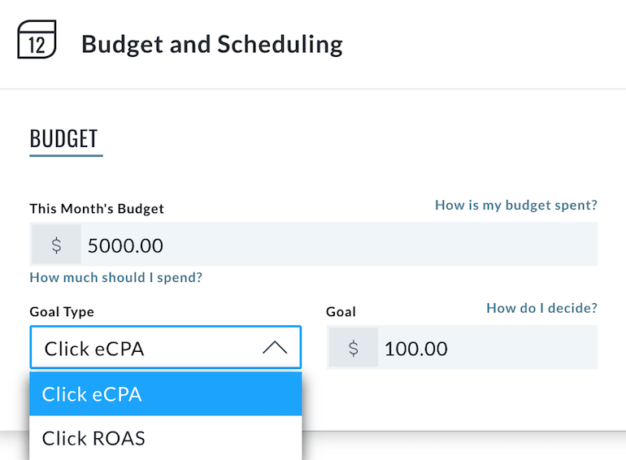 Budget and scheduling