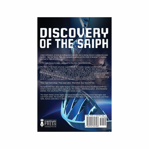 Discovery of the Saiph back cover