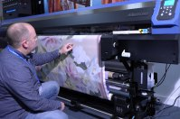 Dr Roger Spark with the Mimaki Tx300P-1800 printer