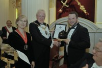 (L-R) Alison Gill, Andrew Parmley, Lord Mayor of the City of London, and Mark Alderson