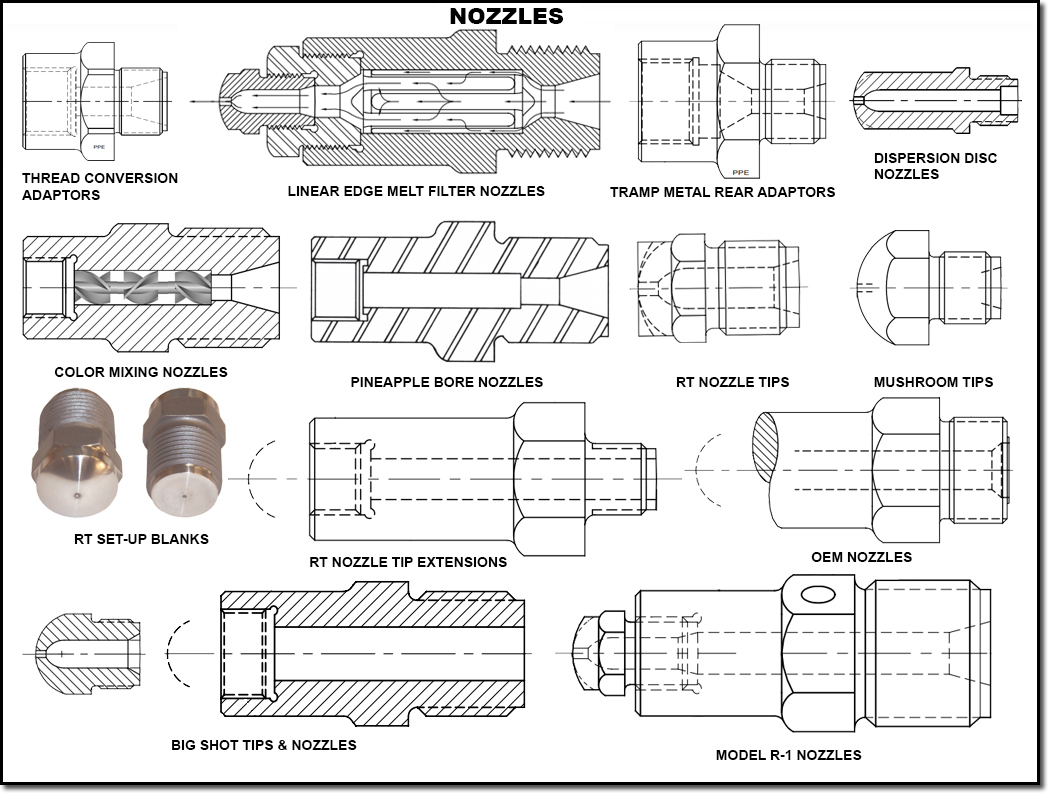 Screws Tips Nozzles Amp Mold Suppies
