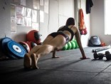 woman doing push up