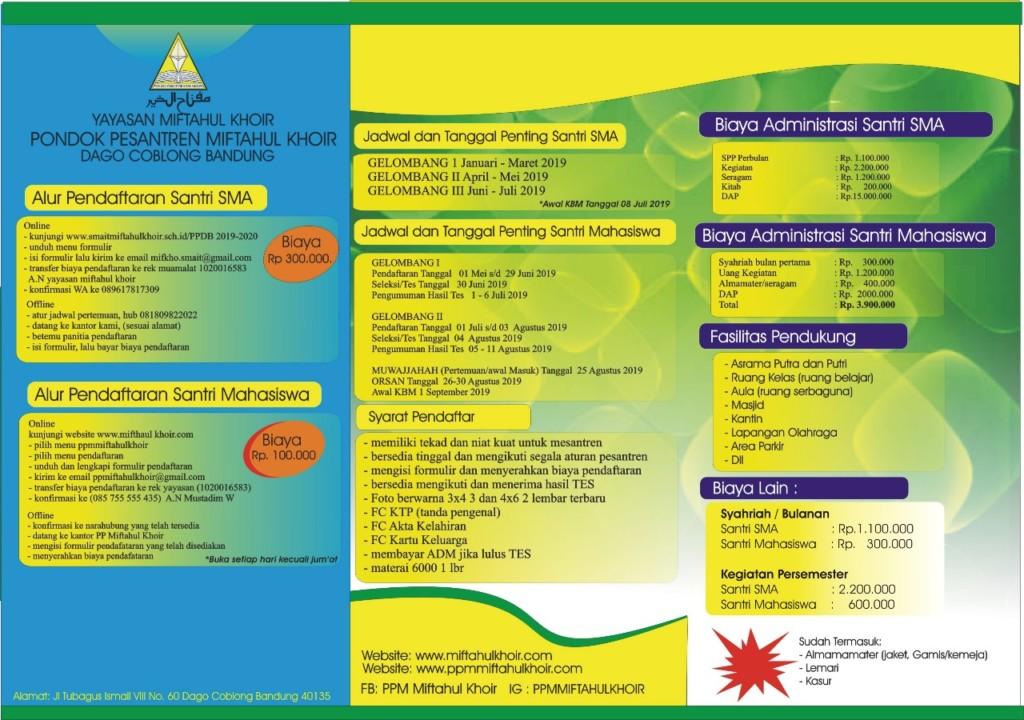 Pamflet Program Yayasan Miftahul Khoir